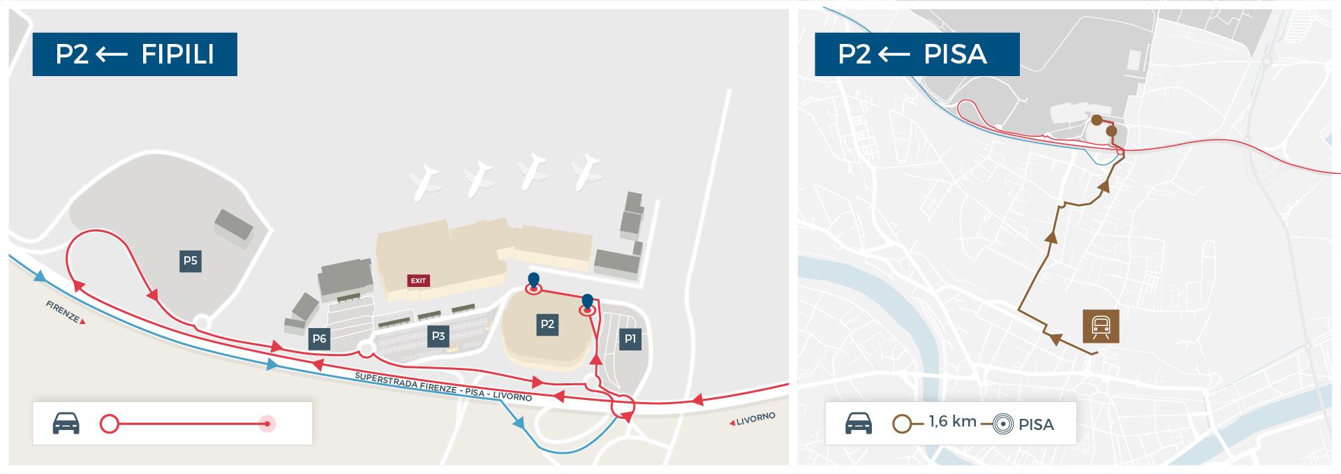 Car Parking Pisa Airport - Pisa bus map