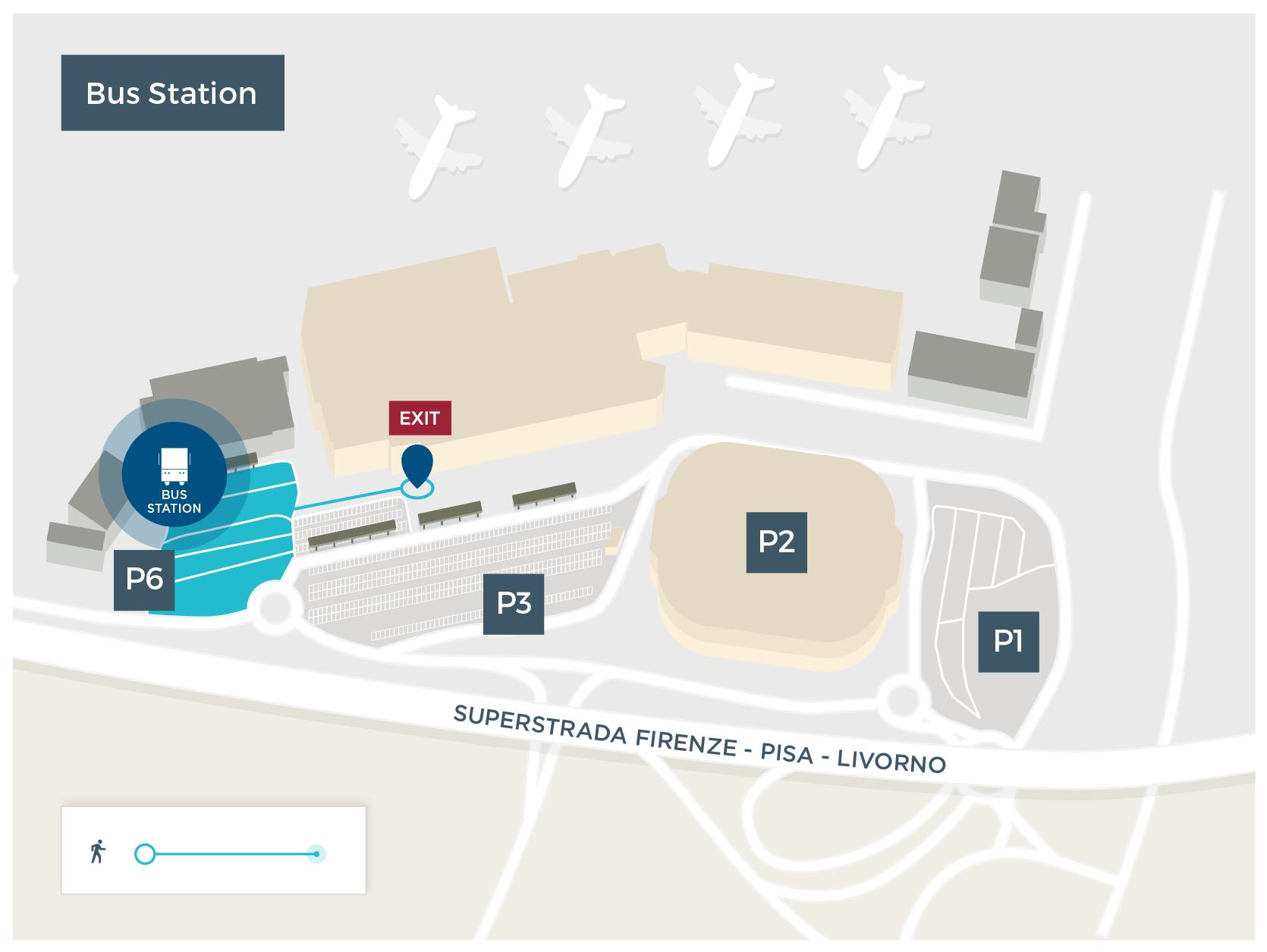 Bus Pisa Airport - Pisa bus map