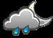 pioggia e schiarite