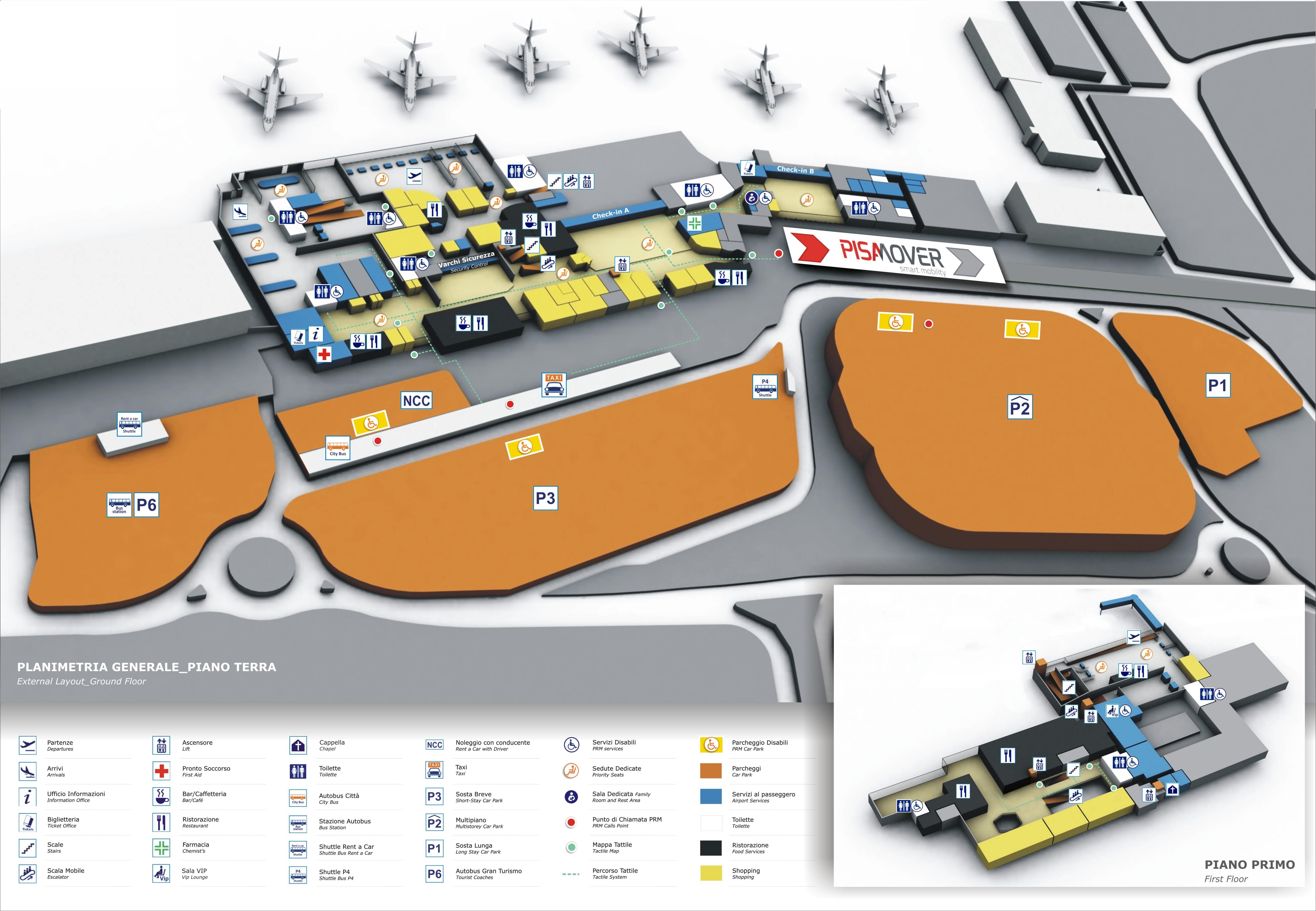 Map Pisa Airport PRM   Pisa Airport Map Pisa Airport